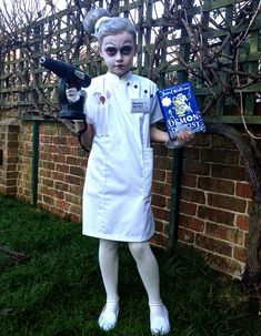 Miss Root, Demon Dentist costume for World Book Day