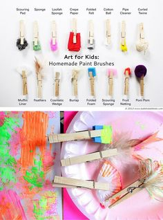 DIY: 16 homemade paint brushes for all sorts of effects
