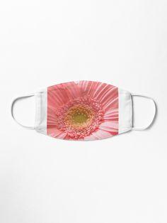 """""""Pink flower"""" Mask by goldyart Gerbera Flower, Pink Gerbera, Pink Flowers, Unique Faces, Make A Donation, Fashion Face Mask, Mask Design, Face Masks, Floral Design"""