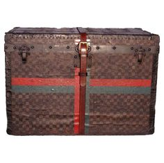 Louis Vuitton Half Steamer Trunk in Damier | Measurements: 30''x17''x20'' From https://www.1stdibs.com/furniture/more-furniture-collectibles/trunks-luggage/