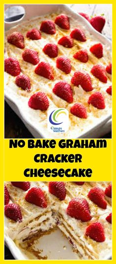 Weight Watchers No Bake Graham Cracker Cheesecake | weight watchers cooking