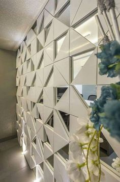 Wall paneling modern tile ideas for 2019 Wall Cladding Interior, Interior Walls, Home Interior, Partition Design, Glass Partition, Wall Finishes, Home And Deco, Ceiling Design, Glass Wall Design