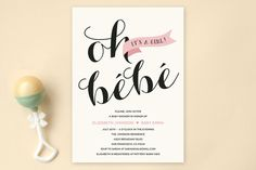 Oh Bebe Baby Shower Invitations by Four Wet Feet Design at minted.com