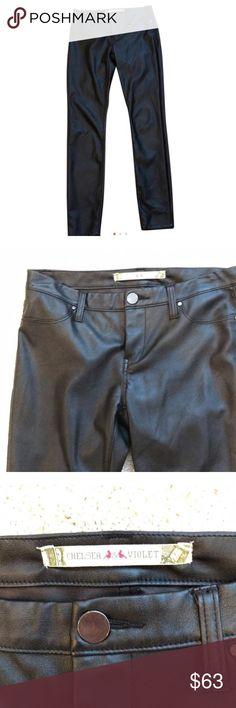 NWOT Chelsea & Violet leather pants Super comfy black leather pants. Worn once. Price negotiable Chelsea & Violet Pants