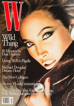 Christy Turlington, Michael Thompson, W Magazine July 1997 Cover Photo - United States W Magazine, Fashion Magazine Cover, Fashion Cover, Magazine Covers, Top Models, List Of Magazines, Michael Thompson, Cover Girl Makeup, She Walks In Beauty