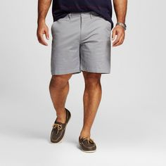Men's Big & Tall Club Shorts 8 Gray 58 - Merona