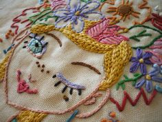 Floral fantasy pattern, sublime stitching