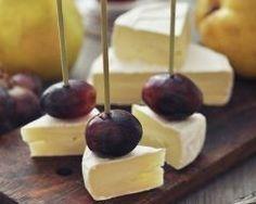 Amuse-bouches coquins de camembert au raisin Ingrédients