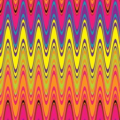 Retro Colorful Waves Background