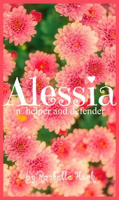 Baby Girl Name: Alessia. Meaning: Helper and Defender. Origin: Greek; Italian. https://www.pinterest.com/vintagedaydream/baby-names/