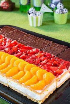#Fußball #Kuchen #coppenrathundwiese #Flagge #Deutschlandfahne #Idee #einfach #Party #soccer #cake #flag