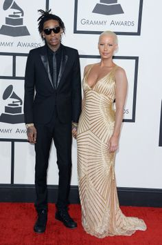 #GRAMMYs #STYLAMERICAN - Wiz Khalifa and Amber Rose at the 2014 Grammy Awards.