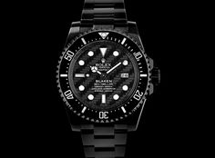 Blaken Custom Rolex. 8 times stronger than regular Rolex steel and entirely scratch resistant.