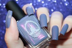 "Swatch of ""Taro Milk Tea"" from Enchanted Polish by diamant sur l'ongle"