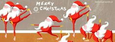 Christmas Yoga by Yoga Republic, Santa Claudia Yoga, Yoga Cartoon