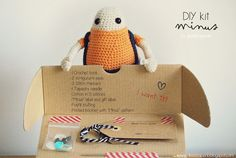 """DIY Amigurumi Kit """"Minus"""""""