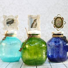 Tinted glass is beautiful and easy to make. Learn how to create your own beautiful home decor with recyclables and craft supplies.