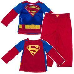 Amazon.com: Superman Pajamas with Cape for Boys: Clothing