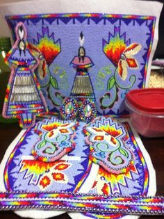 pin by arrow on beadwork ideas Native American Clothing, Native American Regalia, Native American Crafts, Native American Beadwork, Powwow Beadwork, Native Beadwork, Powwow Regalia, Fancy Shawl Regalia, Beadwork Designs