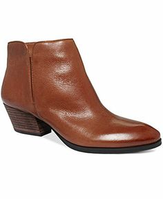 Black leather Franco Sarto Boots, Quasar Booties