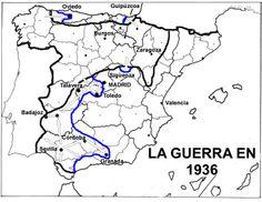 España en Guerra. Comentario del mapa: http://histocliop.blogspot.com/2011/10/la-conspiracion-militar-de-1936.html