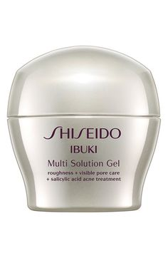 Beauty emergency? No problem. Ibuki Multi Solution Gel by Shiseido has a unique skin-conforming texture that adheres well to problem areas, both under and over makeup to minimize the appearance of acne, breakouts, dryness and visible pores. Smooth skin is your new reality.