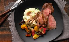 Roast Beef with Peppercorn Wine Sauce and Make-ahead Glazed Beets - Canadian Beef Oven Roast, Roast Beef, Glazed Beets Recipe, Beet Recipes, Wine Sauce, Roasting Pan, Food To Make, Meals, Fresh