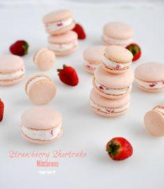 Strawberry Shortcake Macarons - I Sugar Coat It