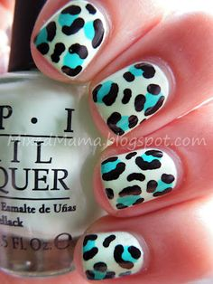 Art Funky Leopard Print Nails + Tutorial hair-makeup-nails-the-works Love Nails, How To Do Nails, Fun Nails, Pretty Nails, Leopard Print Nails, Leopard Spots, Cool Nail Designs, Creative Nails, Nail Tutorials