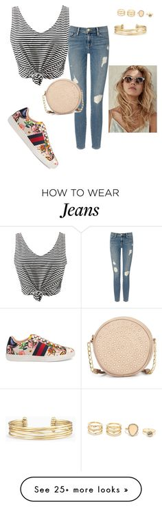 """""""Untitled #526"""" by aminamuratovic3 on Polyvore featuring Gucci, WithChic, Frame Denim, Neiman Marcus, LULUS and Stella & Dot"""