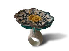 Arata Fuchi - Ring : hommage~1 - silver : silver powder : ozidized silver powder : oxidized shibuichi : fine gold : palladium