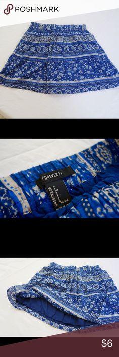 "Forever 21 Floral Skater Skirt Worn once, perfect condition. Elastic waist, skirt is 15"" in length. Forever 21 Skirts Circle & Skater"