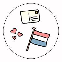 Sluitsticker | Holland  Sticker www.hipenstipkaarten.nl
