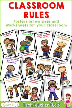 Classroom Rules Posters and Worksheets to reinforce. Bright, colourful and engaging - these posters come in two sizes to suit your classroom and matching worksheets to help you reinforce the rules. Primary School Curriculum, Primary Education, Primary Classroom, Elementary Teacher, School Classroom, Kids Education, Classroom Decor, Classroom Behaviour, Homeschool