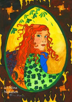 Goddess Brigid Original Painting Celtic Art Celtic Female Goddess Sun Goddess Ireland Irish Celtic Shamrock Fire Goddess by Niina Niskanen Celtic Shamrock, Original Artwork, Original Paintings, Irish Mythology, Celtic Art, Irish Celtic, Acrylic Artwork, Acrylic Paintings, Yellow Art