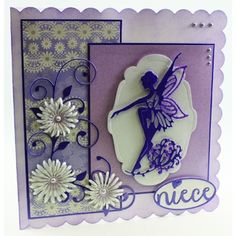 Tonic Studios Rococo Fairy Lily Base Die Set from HixxySoft Art Deco Cards, Tonic Cards, Tattered Lace Cards, Purple Cards, Spellbinders Cards, Quilling Cards, Scrapbook Cards, Scrapbooking, Card Sketches