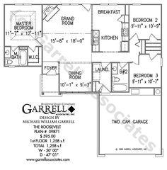 Roosevelt House Plan 09871, Floor Plan, Traditional Style House Plans, Small House Plans, One Story House Plans