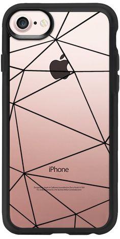 Casetify iPhone 7 Classic Grip Case - Ab Tri Black Transparent by Project M geometric transparent iphone7 case  #Casetify