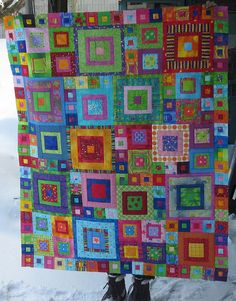 Crayon Box Quilt by nancy lou quilts, via Flickr pattern: The Squares Family Reunion
