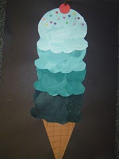 Tint and Value ice cream cones, eat Neopolitan and graph favorite flavor.