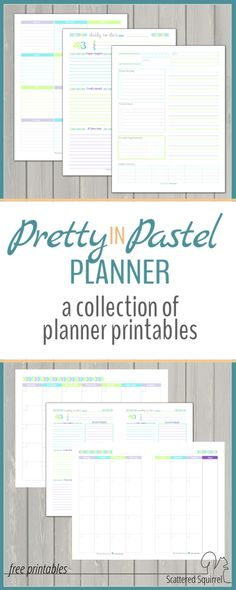 Matching planner pages are always a nice option. Now you can find all the pretty pastel planner printables in one spot! Planner Tips, Planner Layout, Planner Pages, Happy Planner, Printable Planner, Planner Stickers, Free Printables, 2016 Planner, Planner Template