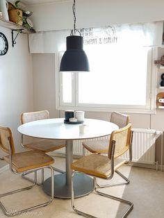 SISUSTUS-blogi   www.marjakuja.fi Dining Table, Furniture, Home Decor, Decoration Home, Room Decor, Dinner Table, Home Furnishings, Dining Room Table, Home Interior Design