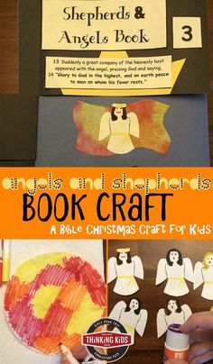 Angels and Shepherds Book Craft - This is a part of the Bible Christmas Crafts for Kids series--check it out!