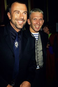 Thierry Mugler & Jean Paul Gaultier...the men the legends....fashions designers