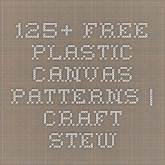 125+ Free Plastic Canvas Patterns | Craft Stew: