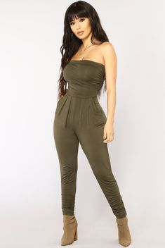 237d3a1ad3 Isabelle Tube Jumpsuit - Olive