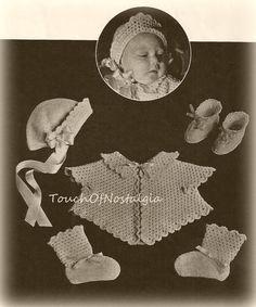 BUTTERFLY LAYETTE Crochet Pattern Vintage  by touchofnostalgia7