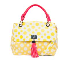 Melie Bianco Lynn Polka Dot Statchel via Little Black Bag