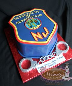 Correction officer cake - This might come in handy one day <3