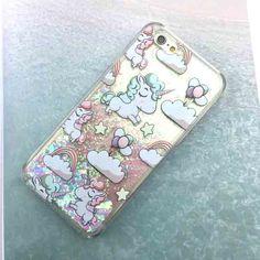 Cute Cartoon Unicorn Case For iPhone 6 6S Dynamic Glitter Stars Dynamic Liquid Cartoon Phone Cases Cover For iphone 6S 6 / Plus